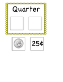 Quarter matching card (coin identification)