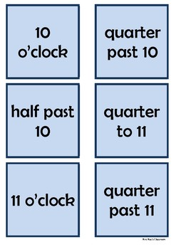 Time - 10 o'clock to 1 o'clock by 15 minute intervals