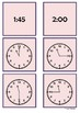 Time - 11 o'clock to 2 o'clock by 15 minute intervals
