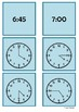 Time - 4 o'clock to 7 o'clock by 15 minute intervals