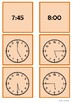 Time - 5 o'clock to 8 o'clock by 15 minute intervals
