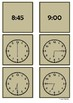 Time - 6 o'clock to 9 o'clock by 15 minute intervals