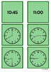 Time - 8 o'clock to 11 o'clock by 15 minute intervals