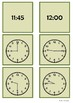 Time - 9 o'clock to 12 o'clock by 15 minute intervals