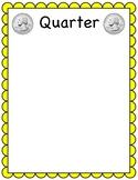 Quarter sorting mat (coin sorting mats)