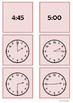 Time - 2 o'clock to 5 o'clock by 15 minute intervals