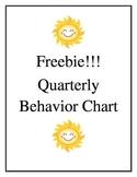 Quarterly Behavior Calendar