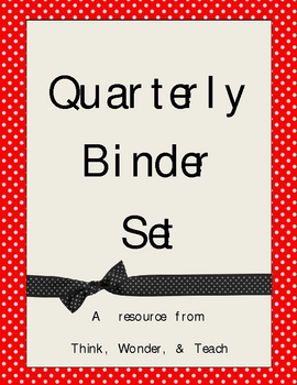 Quarterly Binder Set