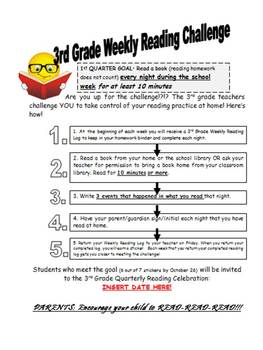 Quarterly Challenge To Help Students Build Reading Stamina