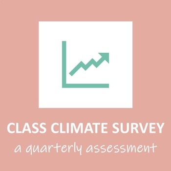 Quarterly Class/School Climate Survey WITH GRAPHING/EXCEL TEMPLATE