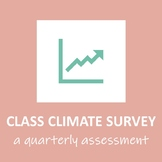 Quarterly Class/School Climate Survey WITH GRAPHING/EXCEL