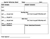 Quarterly Goal Reflection Sheet
