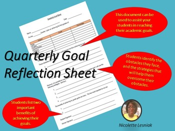 Quarterly Goal Sheet