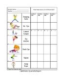 Quarterly Physical Fitness Test Log /Calisthenics log