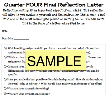 Quarterly Reflection Letters