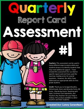 Report Card Assessment (First Quarter)