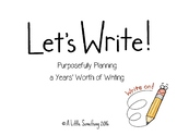 Quarterly Writing Plans