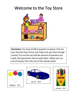 Quarters Activity - Download the free quarters page as well!
