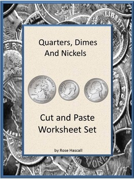 Coin Counting, Money Skills for Special Education, Cut and Paste, Quarters Dimes