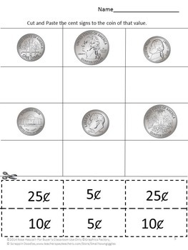 Coins Counting Identifying Coins Special Education Life Skills Fine Motor