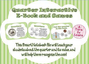 Quarters Interactive E-Book and Games for Smartboard