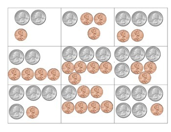 Quarters and Pennies Match