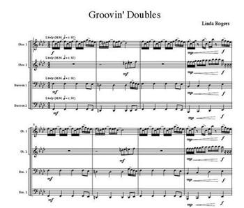 Quartet Suite for Double Reeds, Fun Sheet Music for 2 Oboes and 2 Bassoons