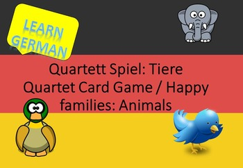Quartet card game Animals (german)