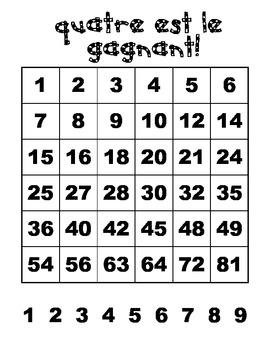 Quatre est le gagnant - un jeu de multiplications
