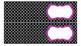 Quatrefoil Labels for 10-Drawer Organizer (Purple and Black)
