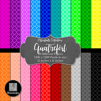 12x12 Digital Paper - Essentials: Quatrefoil