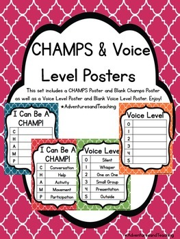 Quatrefoil CHAMPS & Voice Level Posters