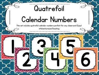 Quatrefoil Calendar Numbers