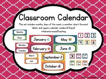 Quatrefoil Calendar Set