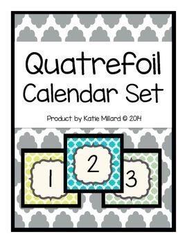 Calendar Set: Quatrefoil *UPDATED*