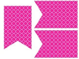 Quatrefoil Classroom Banners - Hot Pink & Lime Green