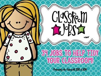 Quatrefoil Classroom Jobs Bundle