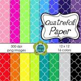 Quatrefoil Digital Background Papers