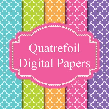 45 Quatrefoil Digital Papers Background Papers