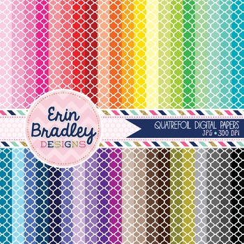 Quatrefoil Digital Paper Bundle