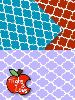 Quatrefoil Digital Paper Set / Quatrefoil Backgrounds (22 Colors)