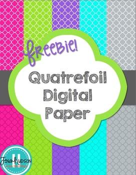 Quatrefoil Digital Papers ~Freebie~