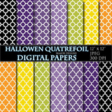 Quatrefoil Digital Papers Halloween Scrapbooking Printable
