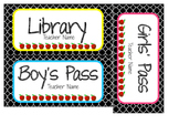 Quatrefoil Hall Passes (Editable)