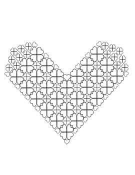 Quatrefoil Heart