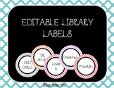 Quatrefoil Library Labels *Editable!