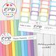 Quatrefoil Moroccan pattern pastel colours digital paper set/ backgrounds