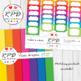 Quatrefoil Moroccan pattern rainbow colours digital paper set/ backgrounds