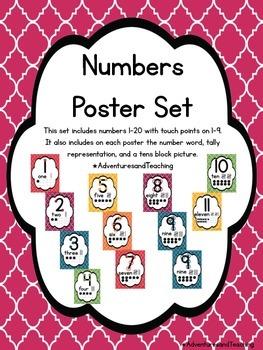 Quatrefoil Number Posters