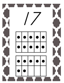 Quatrefoil Number Wall Posters With Ten Frames, 0-20